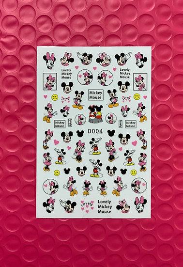 Pink Mickey & Minnie