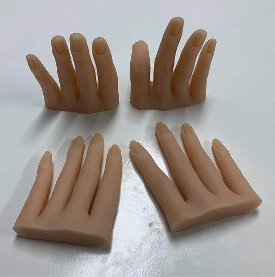 Silicone Half Hand (White)