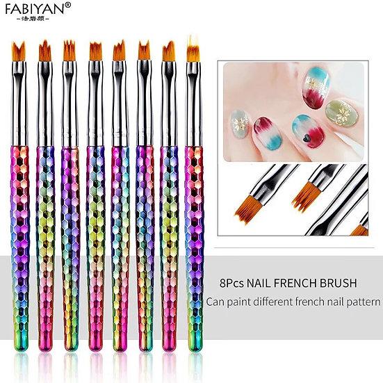Nail French Brush Set