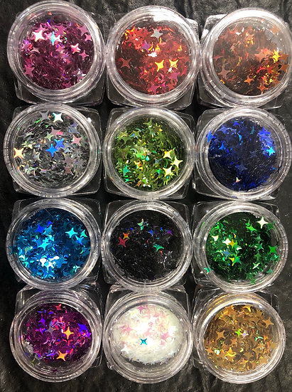 Four pointed star sequins (set of 12)