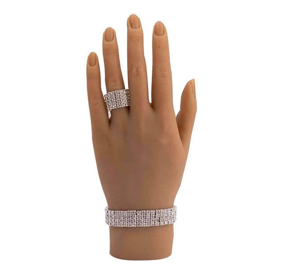 Silicone Hand With Ring & Bracelet