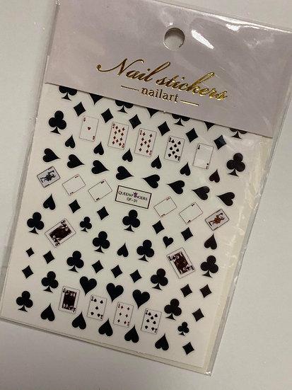 Black Poker Decals #4