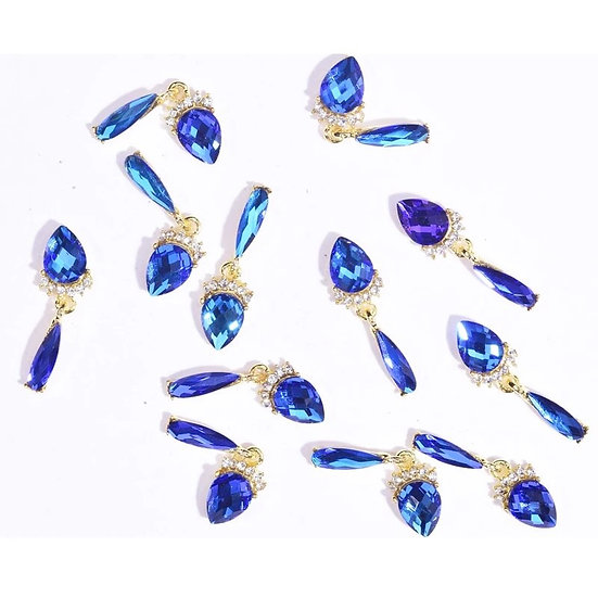 Blue Charms (10 pieces)
