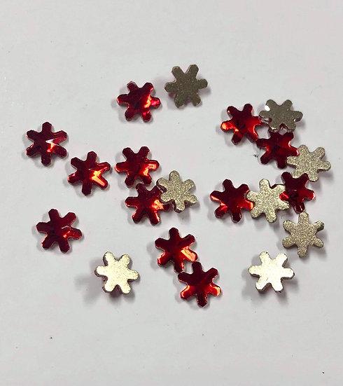 Red Flowers Rhinestones