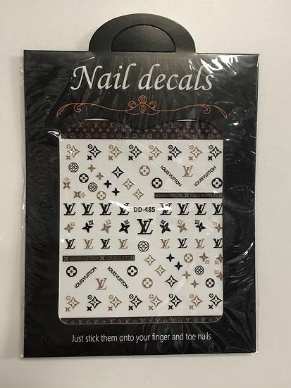 Louis Vuitton Black & Brown Decals