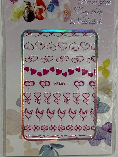 Pink Heart Decals