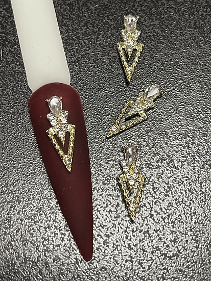 Triangle Charms with clear (4pcs)