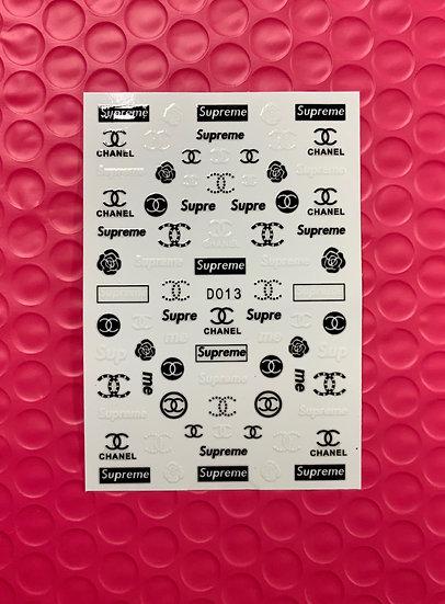 Chanel/ Supreme B&W