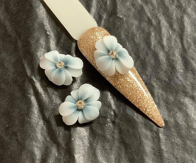 3D whole blue flower