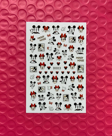 Mickey & Minnie Red Bow