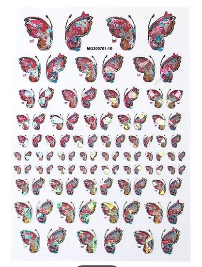 Pink Holographic Butterflies