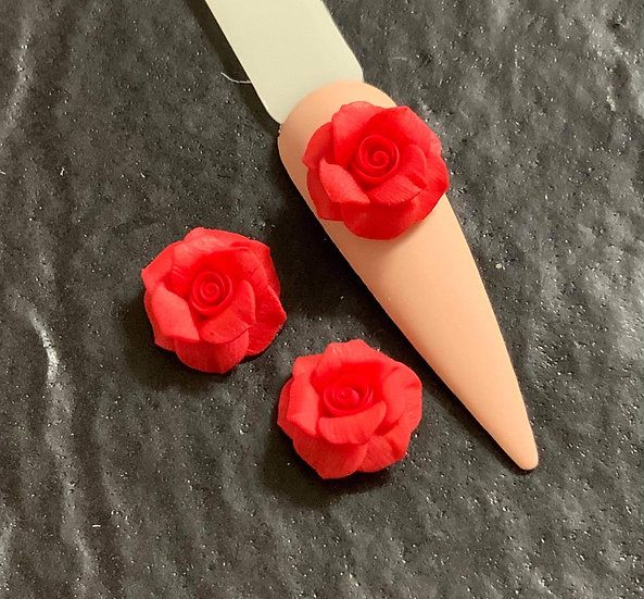 3D Whole red rose