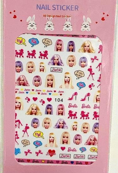 Barbie Girl Decals