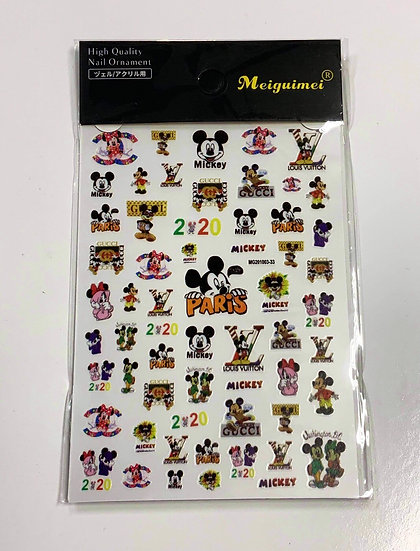 Mickey Mouse Paris Decals
