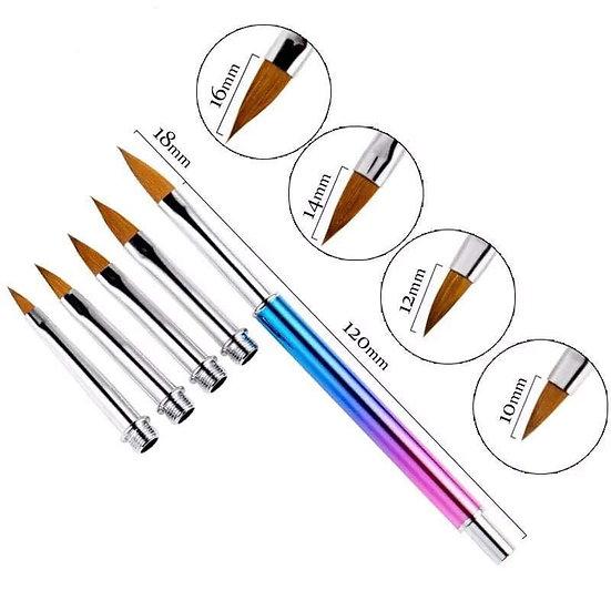 Brush set with 5 brush tips