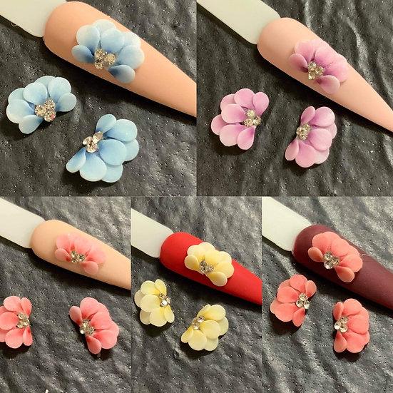 3D Petals with rhinestones