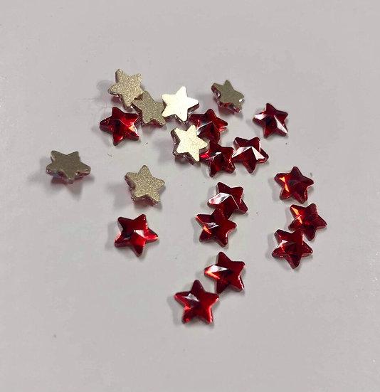 Red Stars Rhinestones