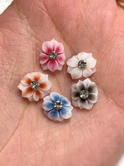 Whole Flowers with rhinestone center