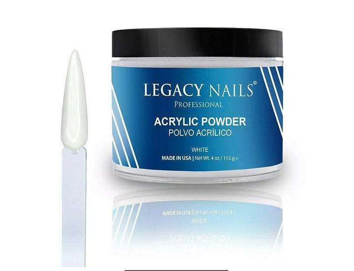 White Acrylic Legacy Nails