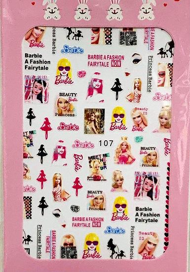Fashion Barbie Decals