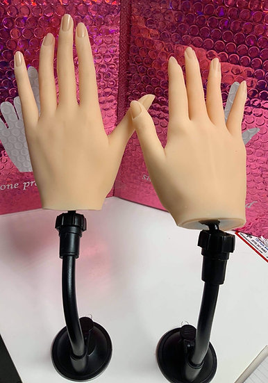 Silicone Practice Hands (white)