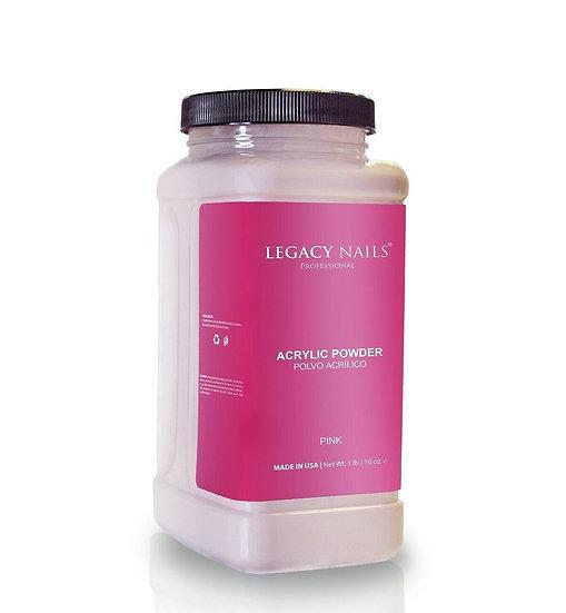 Pink Acrylic Powder Legacy Nails