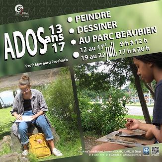 Camps d'arts pour ados / Academ 2021