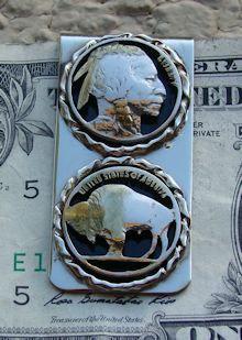 Indian Head & Buffalo Nickel Money Clip