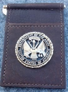 US Army Challenge Coin Buffalo Money Clip