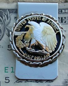 Walking Liberty Eagle Half Dollar Money Clip