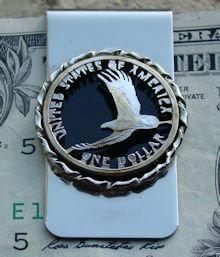 Sacagawea Dollar Eagle Money Clip