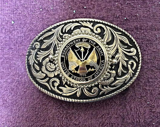 US Army Challenge Coin Belt Buckle