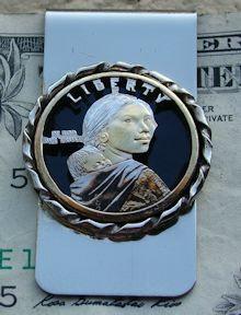 Sacagawea Dollar Money Clip