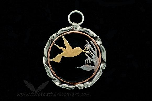 Trinidad-Tobago Hummingbird Coin Pendant