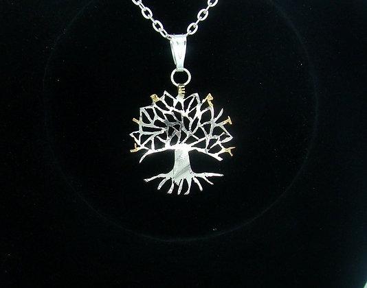 Tree of Life Rimless Half Dollar Pendant