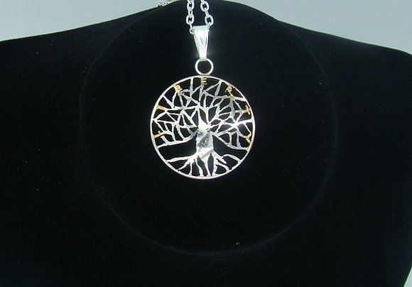 Tree of Life Half Dollar Pendant