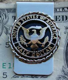 Kennedy Half Dollar Eagle Money Clip