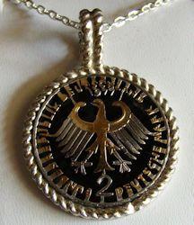 German 2 Mark Pendant