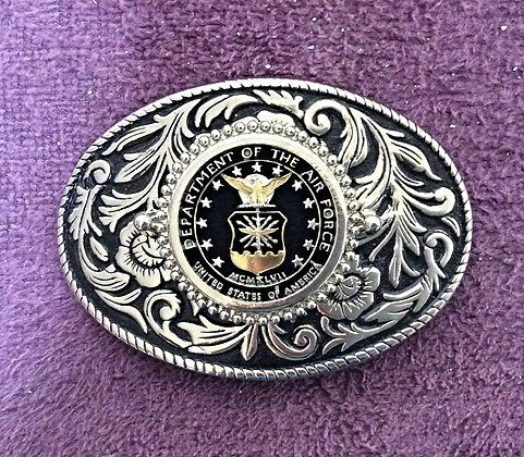 US Air Force Challenge Coin Belt Buckle