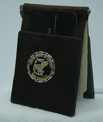 Susan B. Anthony Eagle Dollar Buffalo Leather Money Clip/Card Holder