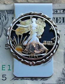 Walking Liberty Half Dollar Money Clip