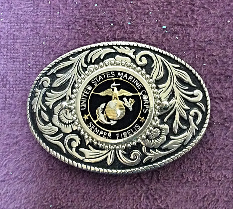 US Marine Corps Challenge Coin Belt Buckle