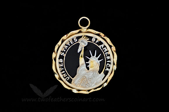 Presidential Dollar Lady Liberty Pendant