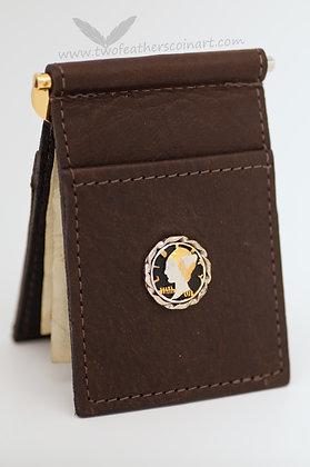 Mercury Dime Buffalo Leather Money Clip/Card Holder