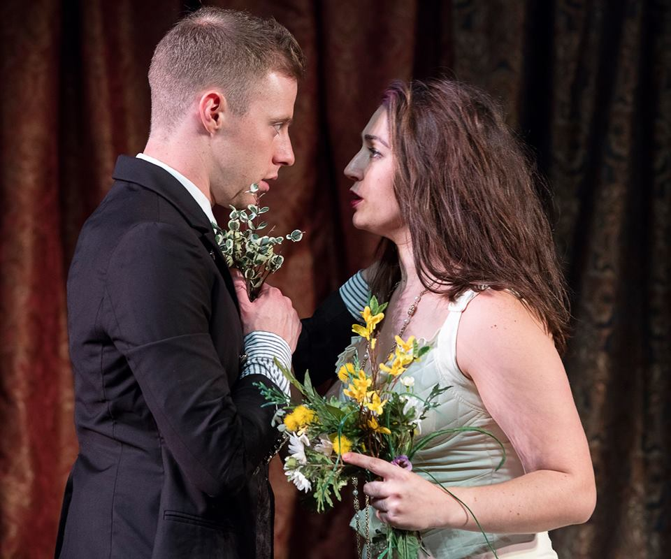 As Laertes in Hamlet with Tori Lewis