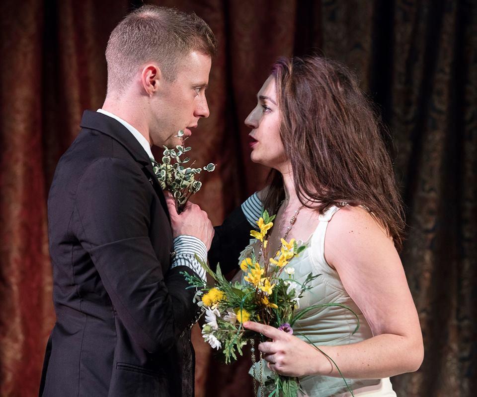 As Laertes in Hamlet with Tori Lewis
