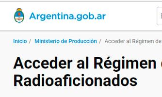 Una buena para el Radioaficionado Argentino