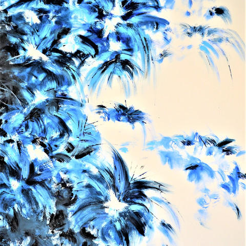 Oasis in blue