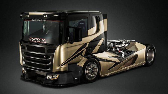 Brutalidade extrema! Conheça o Scania mais monstruoso (com V8, seis turbos e 2.190cv)