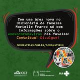 Nova área sobre COVID no Dicionário Marielle Franco